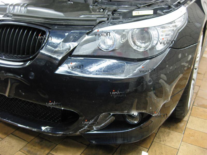 Автомобиль BMW 5 (Е60) М-пакет. /  Нанесение антигравийной пленки VENTURESHIELD. 2