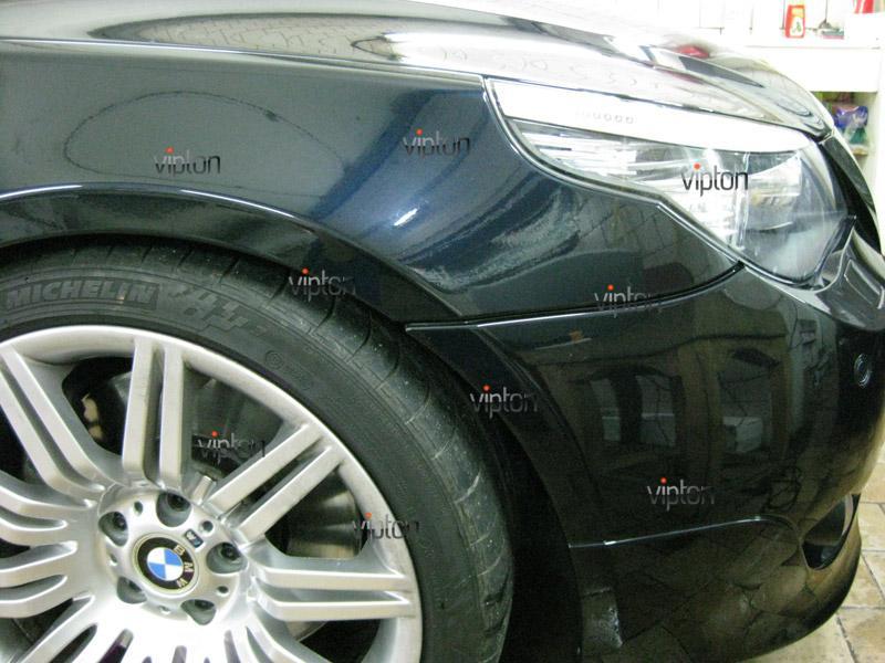 Автомобиль BMW 5 (Е60) М-пакет. /  Нанесение антигравийной пленки VENTURESHIELD. 3