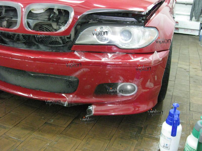 Автомобиль BMW 3(Е46) купе. / Нанесение антигравийной пленки VENTURESHIELD. 3