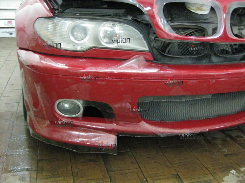 Автомобиль BMW 3(Е46) купе. / Нанесение антигравийной пленки VENTURESHIELD. 4