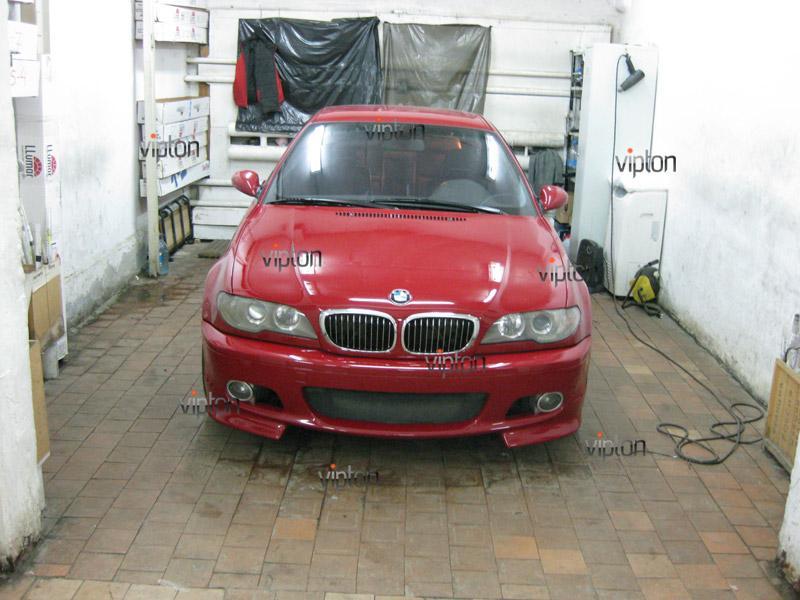 Автомобиль BMW 3(Е46) купе. / Нанесение антигравийной пленки VENTURESHIELD. 5