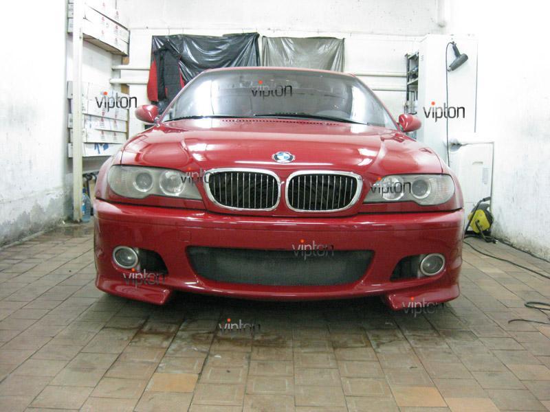 Автомобиль BMW 3(Е46) купе. / Нанесение антигравийной пленки VENTURESHIELD. 6
