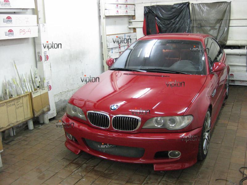 Автомобиль BMW 3(Е46) купе. / Нанесение антигравийной пленки VENTURESHIELD. 7