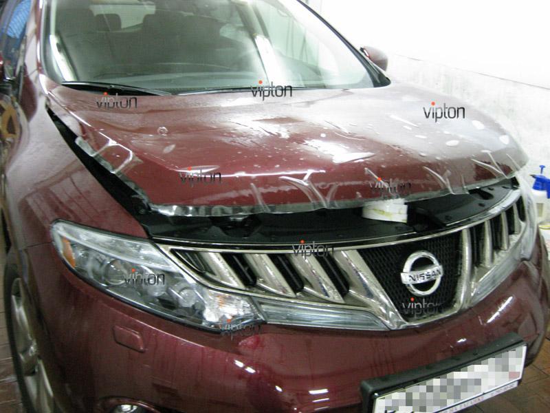 Автомобиль Nissan Murano.  / Нанесение антигравийной пленки VENTURESHIELD.