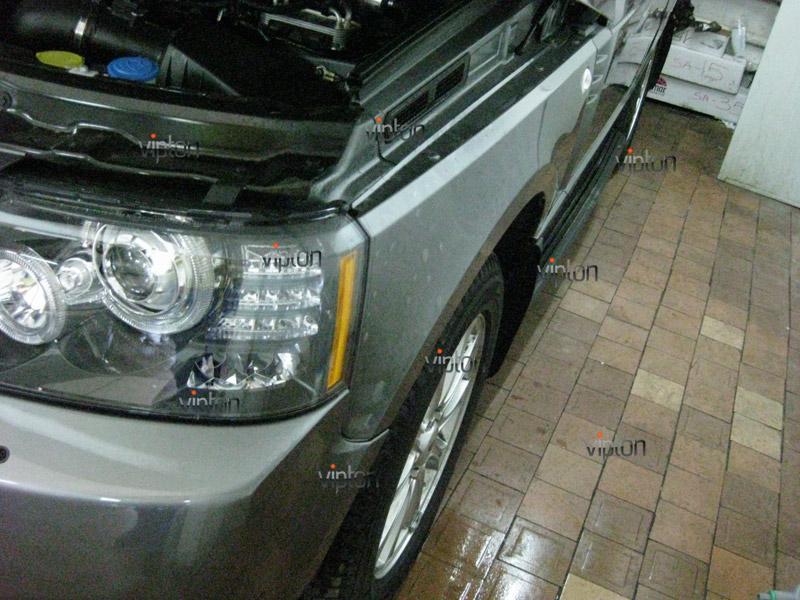 Автомобиль Range Rover Sport. / Нанесение антигравийной пленки