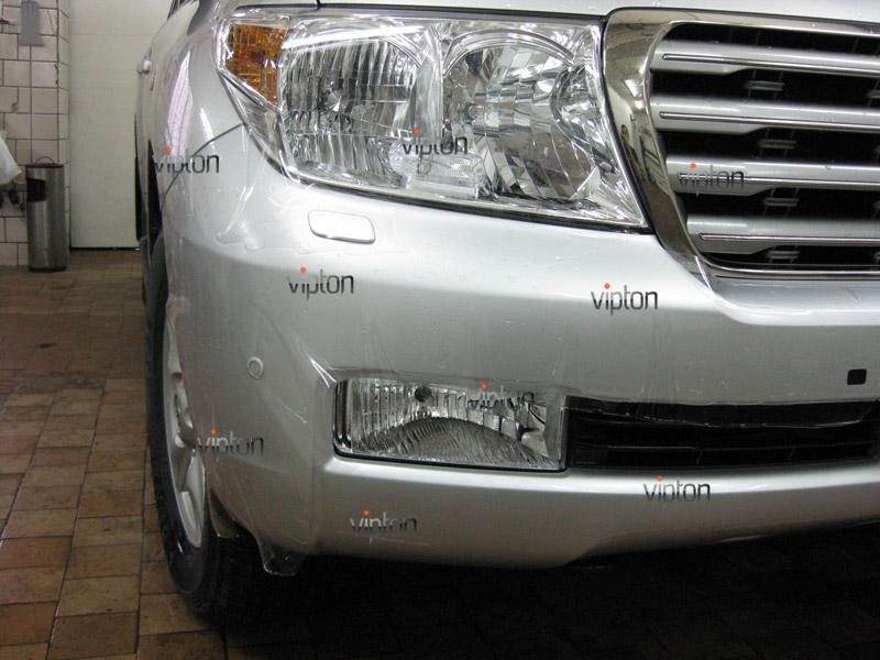 Автомобиль Toyota Land Cruiser 200. / Нанесение антигравийной пленки VENTURESHIELD. 1
