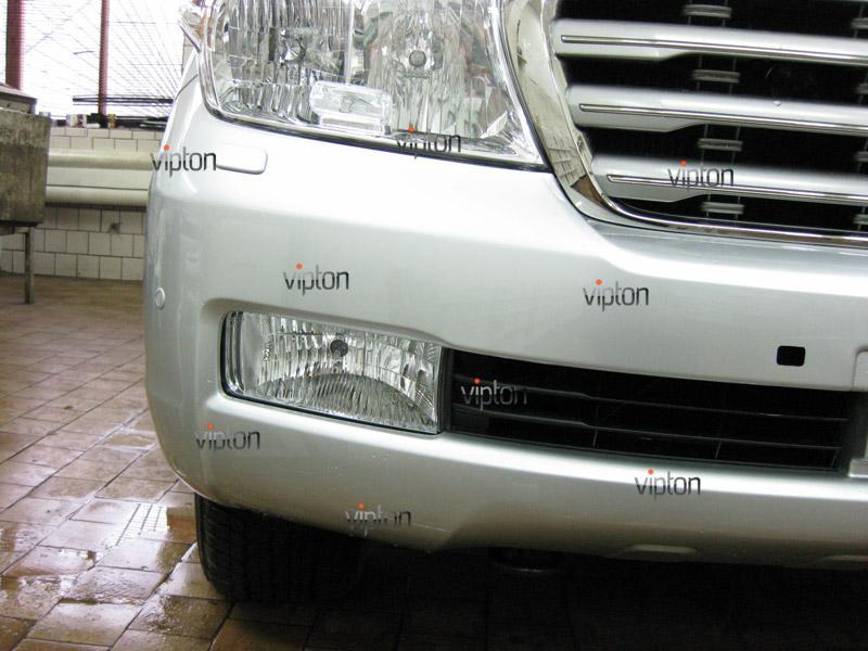 Автомобиль Toyota Land Cruiser 200. / Нанесение антигравийной пленки VENTURESHIELD. 3