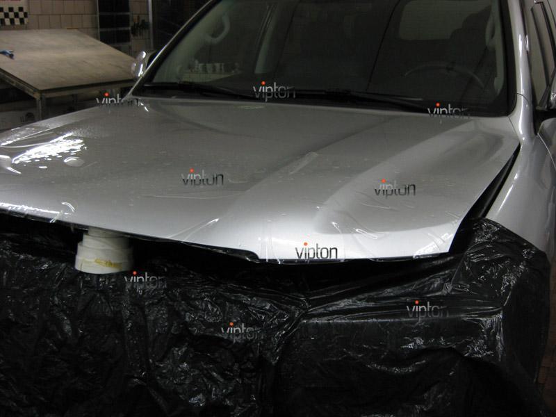 Автомобиль Toyota Land Cruiser 200. / Нанесение антигравийной пленки VENTURESHIELD. 4