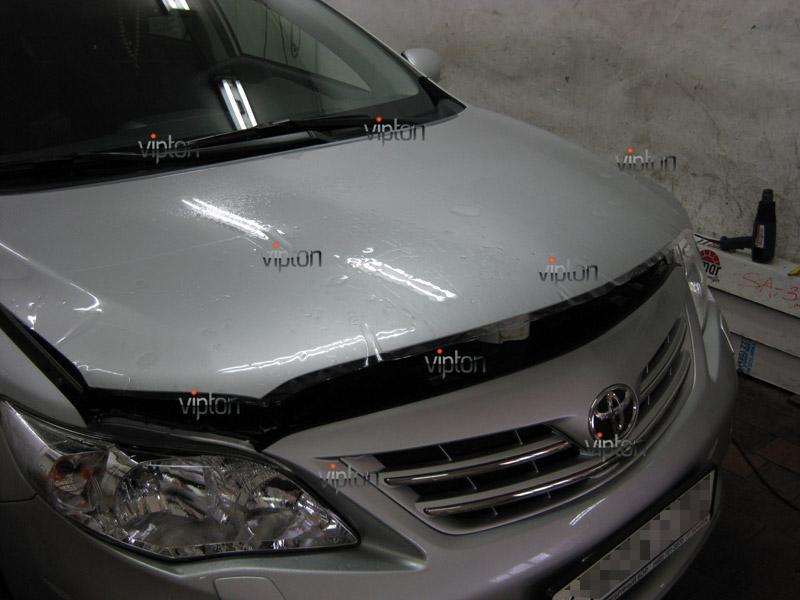 Автомобиль Тoyota Corolla. /  Нанесение антигравийной пленки VENTURESHIELD.