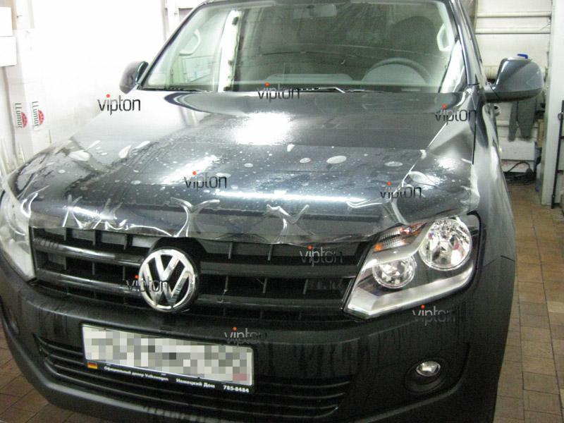 Автомобиль Volkswagen Amarok. / Нанесение антигравийной пленки VENTURESHIELD. 1