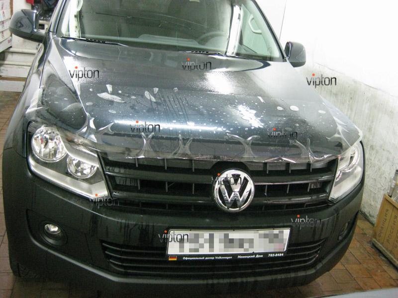 Автомобиль Volkswagen Amarok. / Нанесение антигравийной пленки VENTURESHIELD. 2