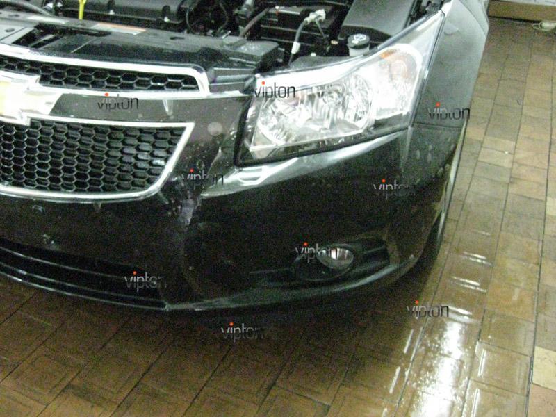 Автомобиль Chevrolet Crus. /  Нанесение антигравийной пленки VENTURESHIELD. 4