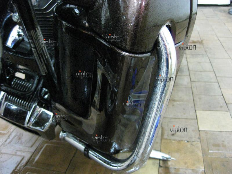 Мотоцикл Harley Davidson Street Glide / Нанесение антигравийной пленки 9