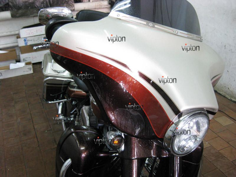 Мотоцикл Harley Davidson Street Glide / Нанесение антигравийной пленки 13