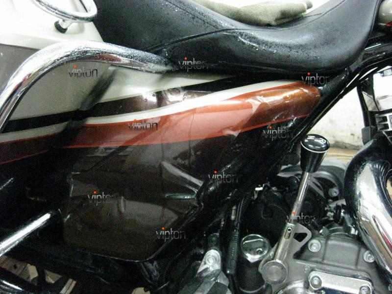 Мотоцикл Harley Davidson Street Glide / Нанесение антигравийной пленки 14
