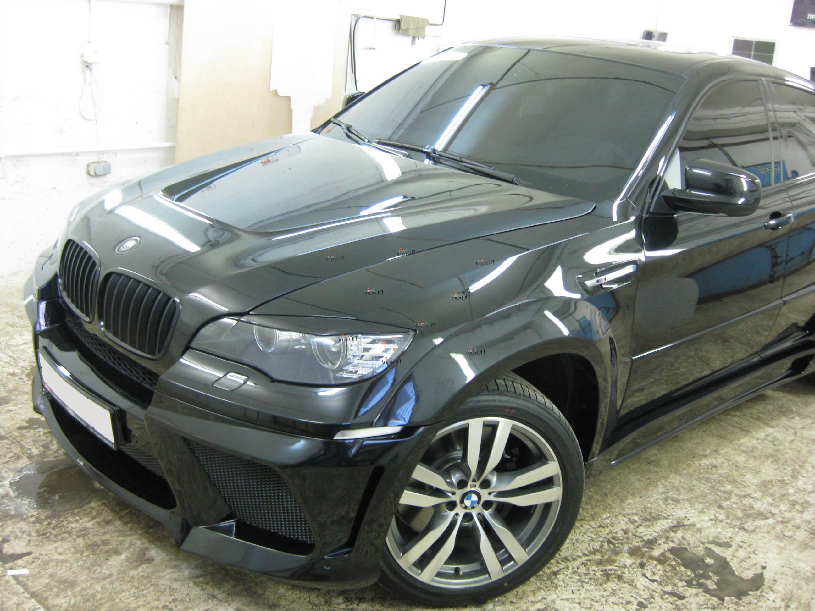 Автомобиль BMW Х6: Нанесение антигравийной пленки