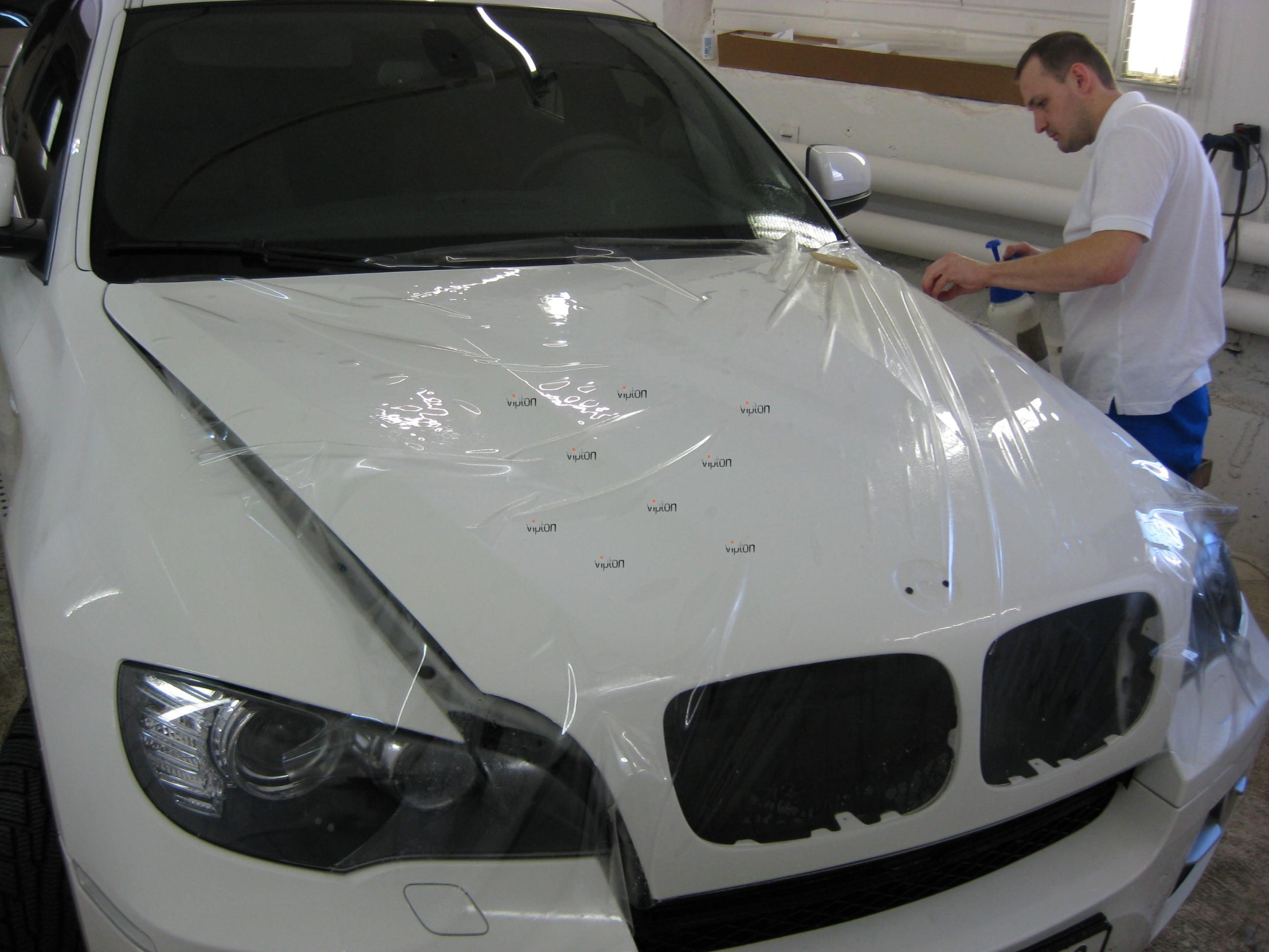 Автомобиль BMW Х6: антигравийная пленка