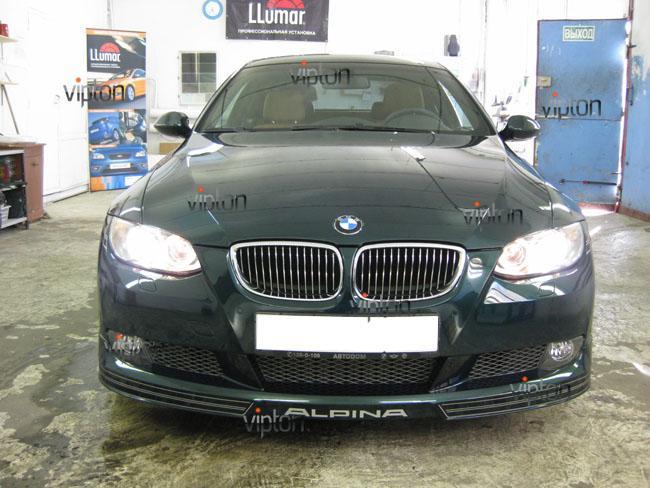 BMW 3 (E92) Alpina: Нанесение антигравийной пленки