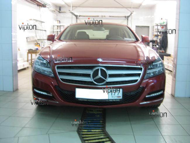 Mercedes Benz CLS: Антигравийная пленка 4