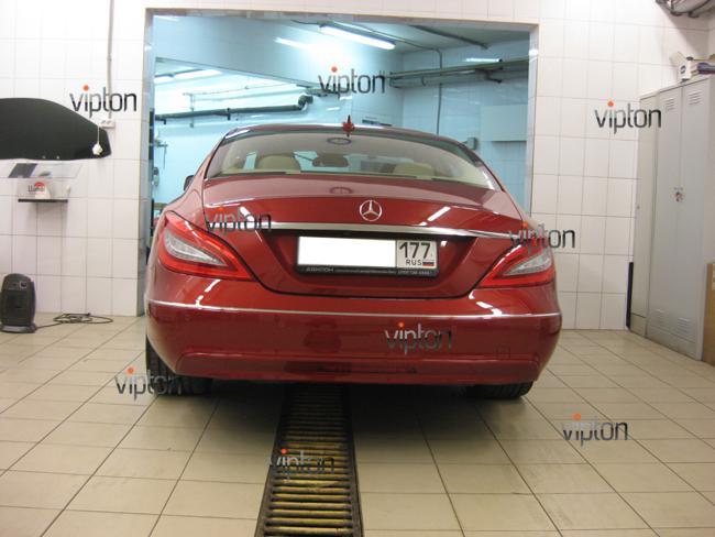 Mercedes Benz CLS: Антигравийная пленка 5