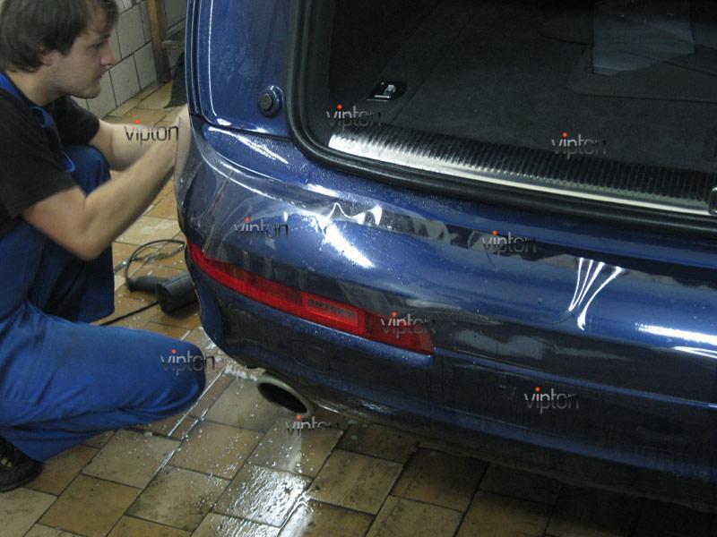 Audi Q7: установка антигравийной пленки 2