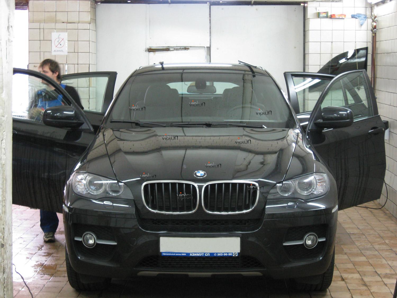 BMW X6: тонирование ударопрочной пленкой