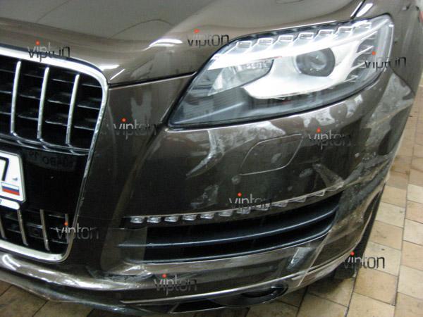 Audi Q7: нанесение антигравийной пленки VENTURESHIELD 1