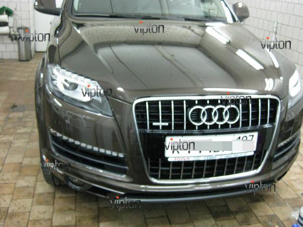 Audi Q7: нанесение антигравийной пленки VENTURESHIELD 2