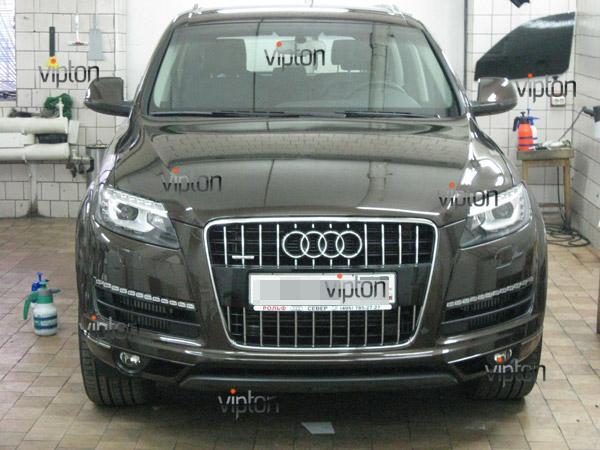 Audi Q7: нанесение антигравийной пленки VENTURESHIELD 5
