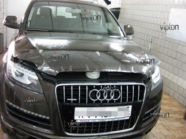 Audi Q7: нанесение антигравийной пленки VENTURESHIELD 10