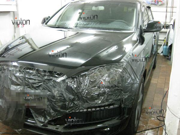 Автомобиль Audi Q7 / Нанесение антигравийной пленки VENTURESHIELD 2