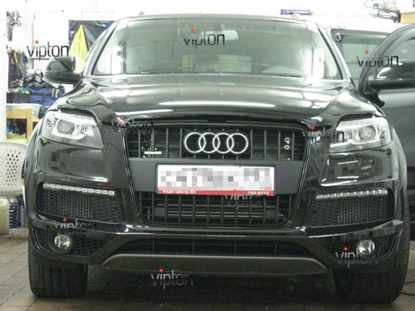 Автомобиль Audi Q7 / Нанесение антигравийной пленки VENTURESHIELD 6