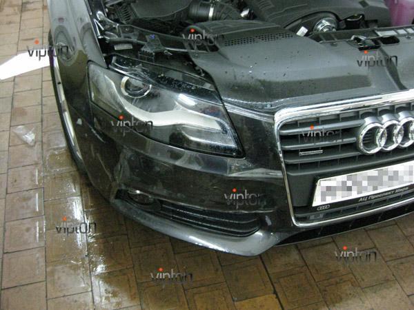 Автомобиль Audi А4 / Нанесение антигравийной пленки VENTURESHIELD. 2