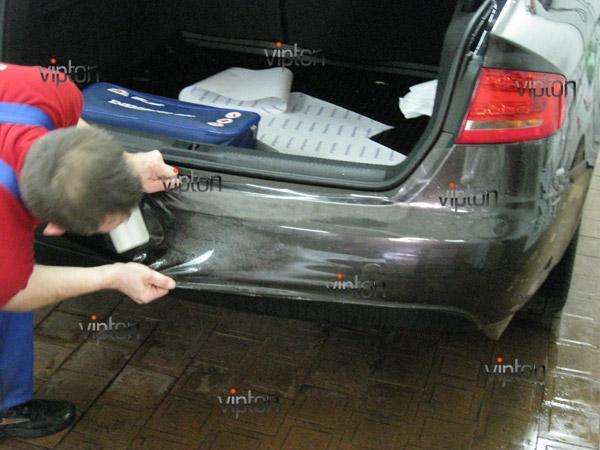 Автомобиль Audi А4 / Нанесение антигравийной пленки VENTURESHIELD. 4