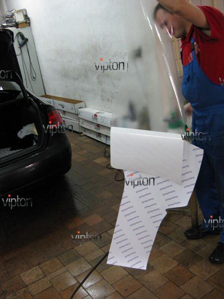 Автомобиль Audi А4 / Нанесение антигравийной пленки VENTURESHIELD. 10