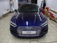 Audi A5 Установка полиуретановой пленки LLumar PPF Gloss.