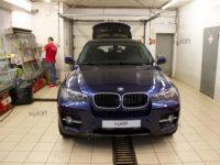 BMW X6:  Абразивная полировка кузова и нанесение керамического