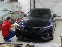 BMW 4 серия:защита фар пленкой SPARKS TOP.