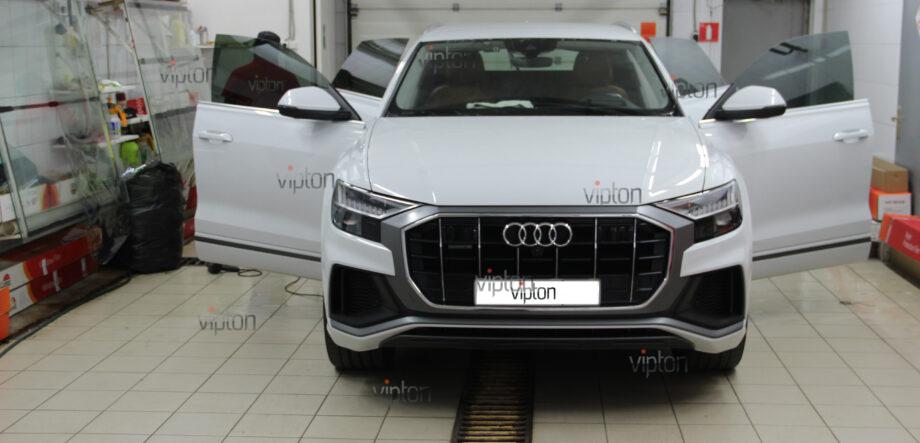 Audi Q8 тонирование всех стекл 10