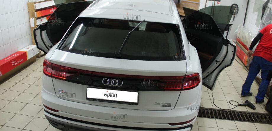Audi Q8 тонирование всех стекл 9