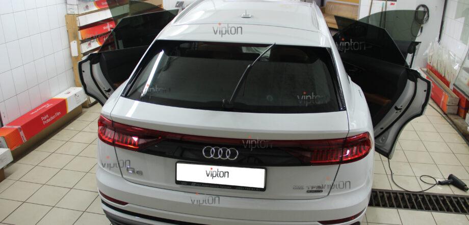 Audi Q8 тонирование всех стекл 8