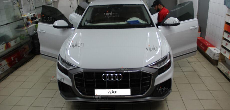 Audi Q8 тонирование всех стекл 7
