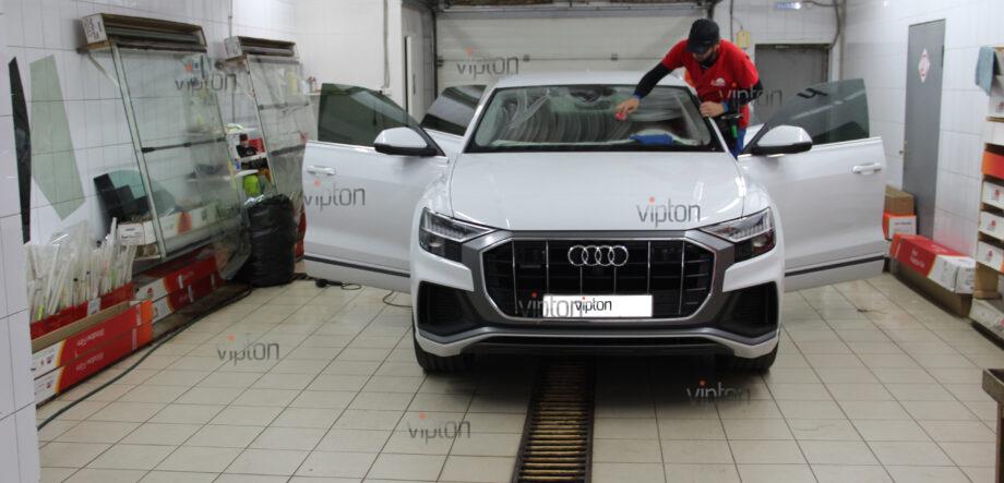 Audi Q8 тонирование всех стекл 6