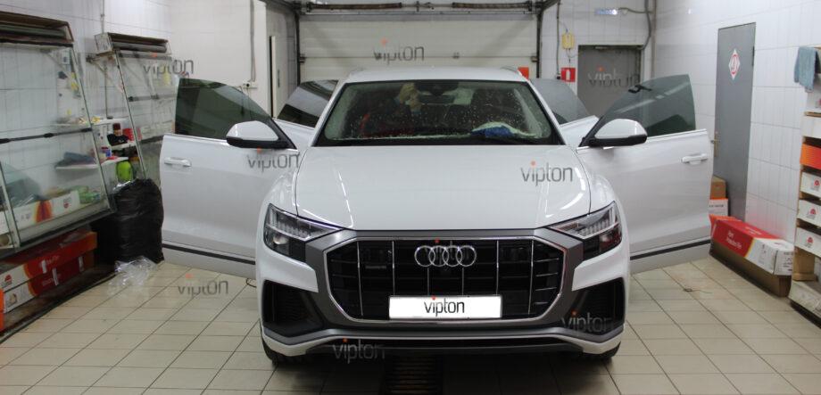 Audi Q8 тонирование всех стекл 5