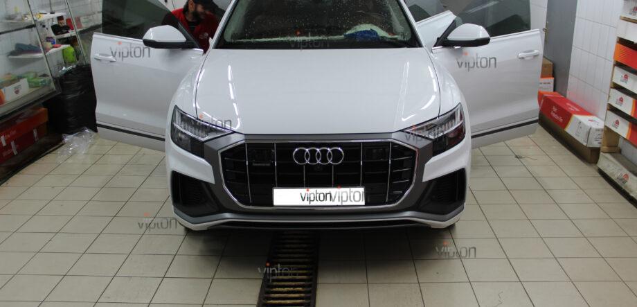 Audi Q8 тонирование всех стекл 4
