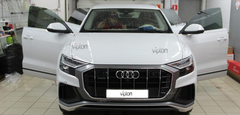 Audi Q8 тонирование всех стекл 3