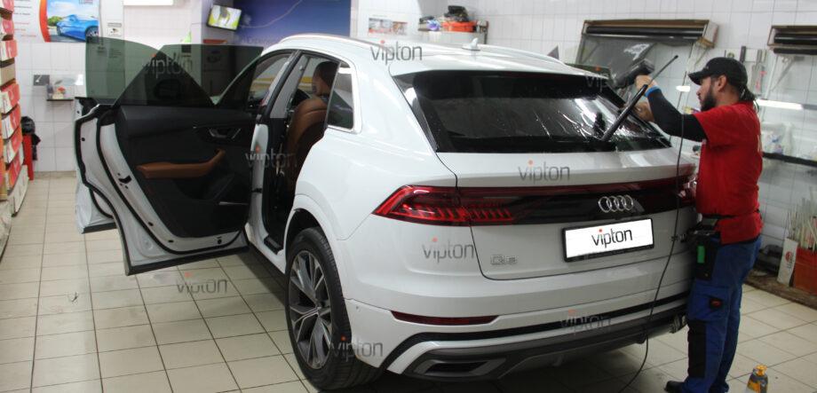 Audi Q8 тонирование всех стекл 2