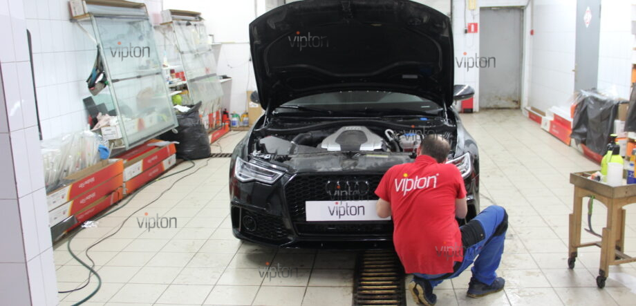 Audi A6: бронирование фар 5
