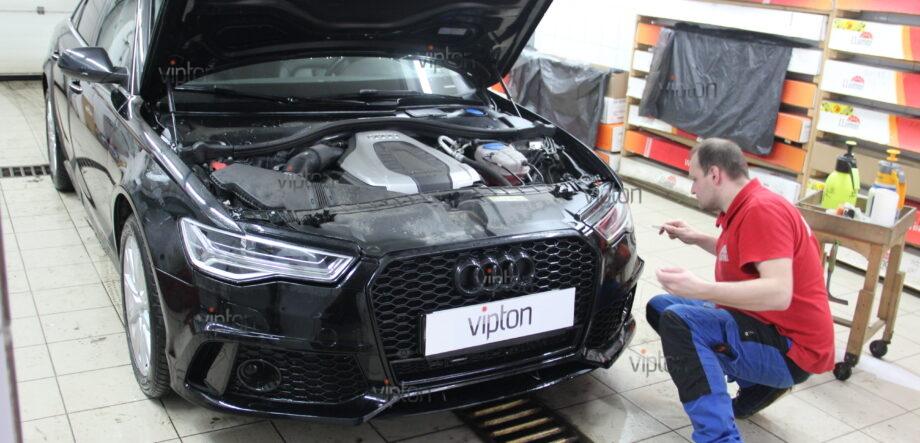 Audi A6: бронирование фар 4