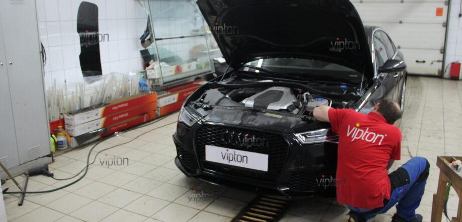 Audi A6: бронирование фар 3
